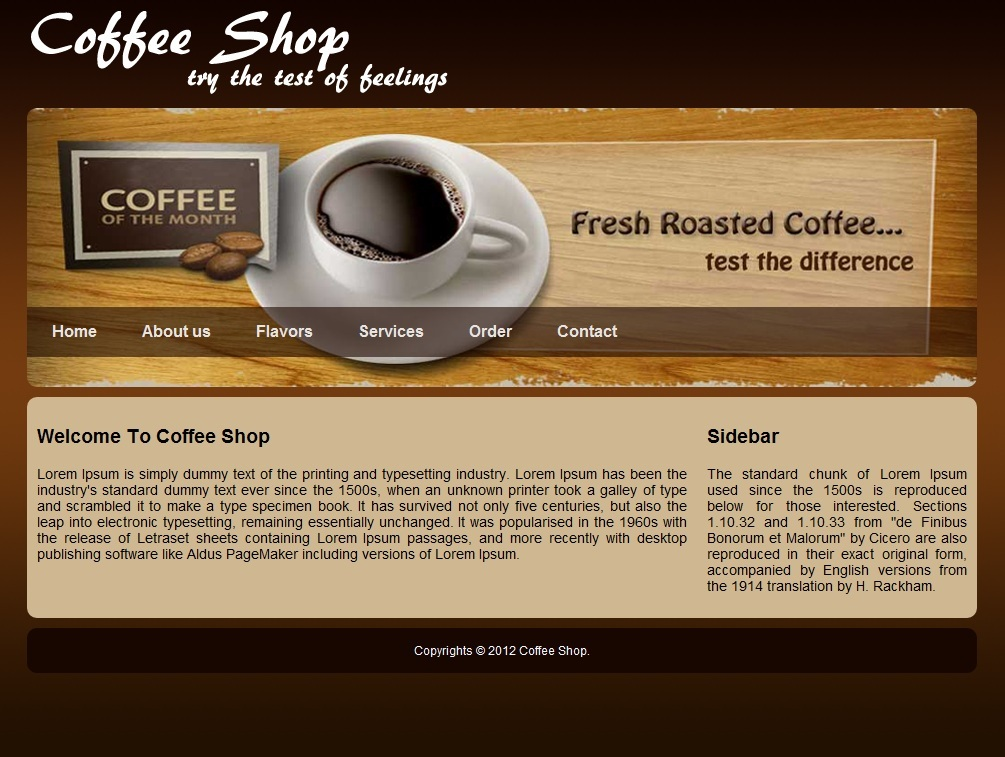 free website template for coffee shop download free apps. Black Bedroom Furniture Sets. Home Design Ideas