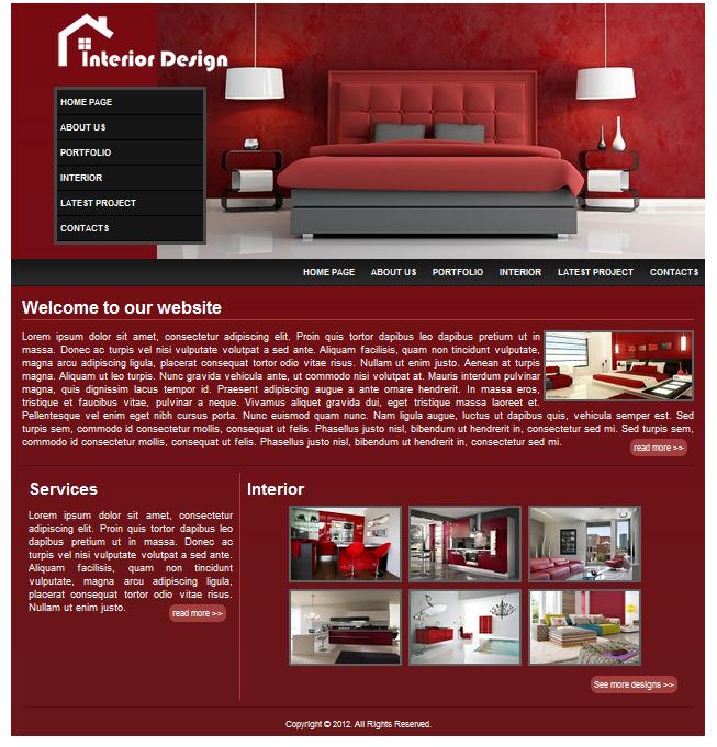 Interior Design Websites interior design - a html/css website template - surf n read
